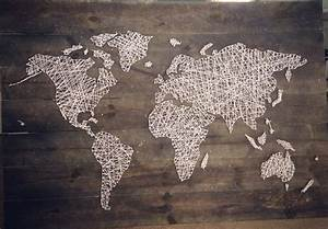Our world map string art