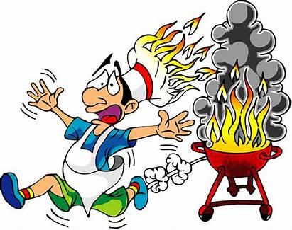 Funny Clipart Cartoon Clip Bbq Fire Barbecue