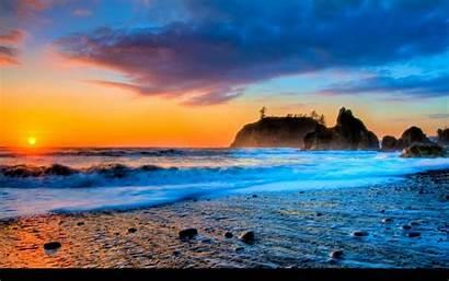 Sunset Beach Background Backgrounds Wallpapers Desktop Amazing