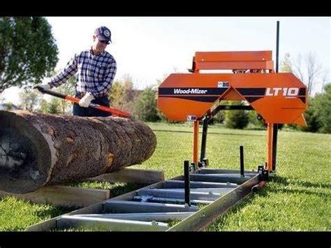 personal lt wood mizer sawmill start sawing