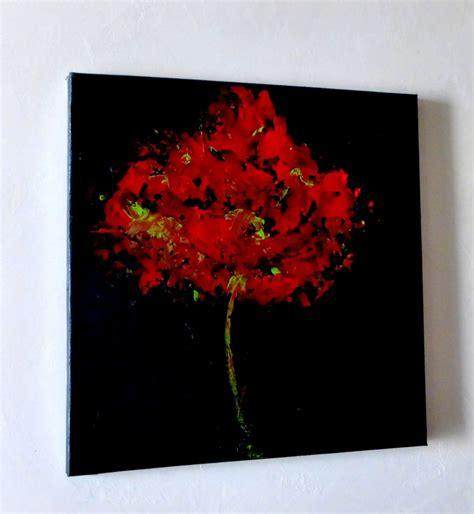 peinture moderne abstraite fleurs tableau peinture contemporain abstrait noir eclosion fleur acrylique glam peinture