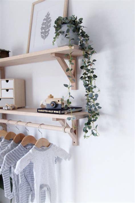 tasmanian oak bracket shelf  hanging rod wooden