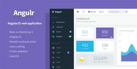 angulr bootstrap admin web app  angularjs