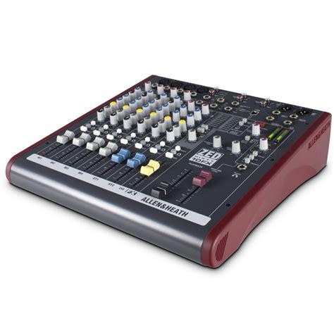 allen heath mixer live zed60 10fx allen and heath zed60 10fx analog mixer with usb at