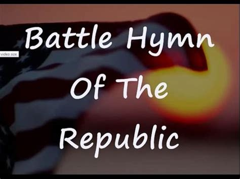 what is the meaning of siege battle hymn of the republic with lyrics