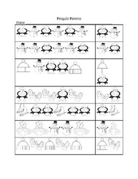 penguin winter patterns is a printable worksheet for