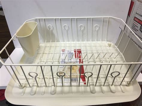 LARGE RUBBERMAID KITCHEN DISH DRAINER RACK SET & SLOPED