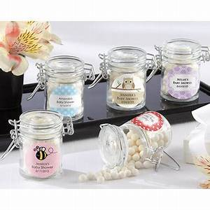 baby shower favor jars with personalized labels With cheap jar labels