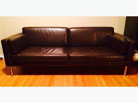 Brown Leather Sofa Bed Ikea by Ikea Sater Brown Bonded Leather Sofa Saanich
