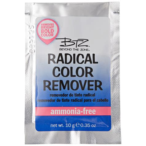 color remover hair beyond the zone radical color remover