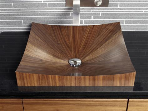 wooden sinks and bathtubs wooden vanity unit laguna pure by alegna intercontact