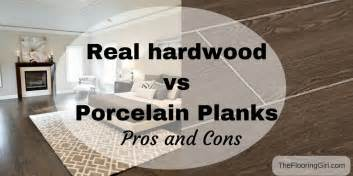hardwood flooring vs tile planks that look like hardwood pros and cons the flooring