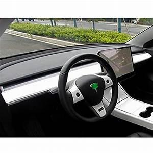 BMZX Tesla Model 3 Model Y Dash Wrap ABS Glossy Dashboard Cover Cap Interior Decoration Wrap Kit ...
