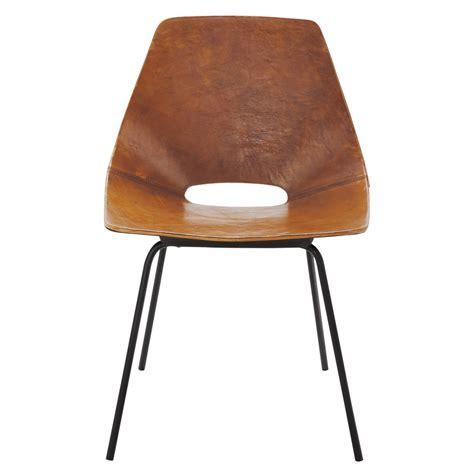 chaise tonneau chaise tonneau guariche en cuir et métal cognac amsterdam