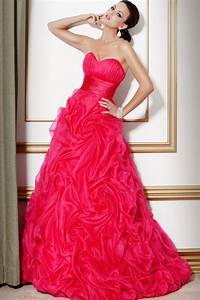 hot pink wedding dress with strapless sweetheart With hot pink dress for wedding