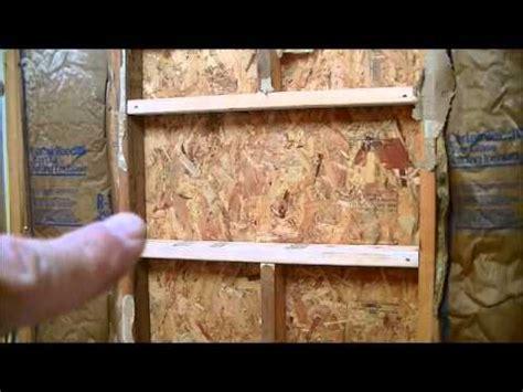 how to build shower niche