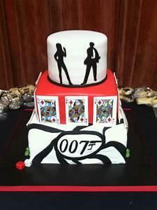 Poker/james Bond Themed Cake - CakeCentral com