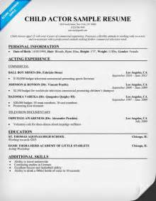 Sle Of Acting Resume by Actors Resume Exle Homey Design Actors Resume Template 9