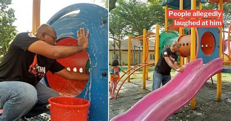 Selfless Man Cleans Entire Playground to Keep Kids Safe