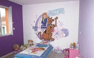 Décoration Murale Chambre Fille : decoration chambre fille en peinture ~ Teatrodelosmanantiales.com Idées de Décoration