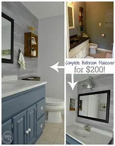vintage rustic industrial bathroom reveal budget With cheapest way to redo bathroom