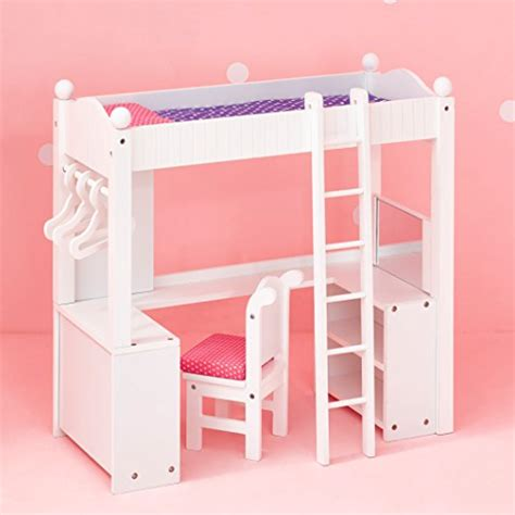 Lowest Price 18 Doll Bunk Bed With Desk Fits American