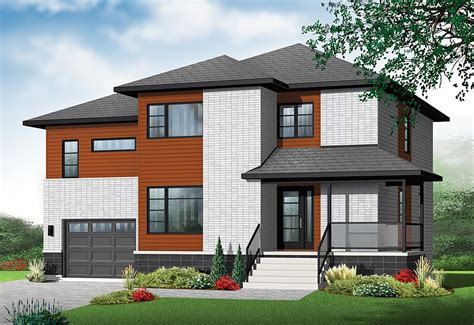 modern 4 bedroom house new contemporary house plan with 4 bedrooms and 3 435 | L050712094130