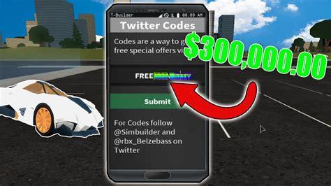 roblox vehicle simulator codes