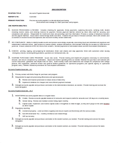 sle accounts payable description 9 exles in