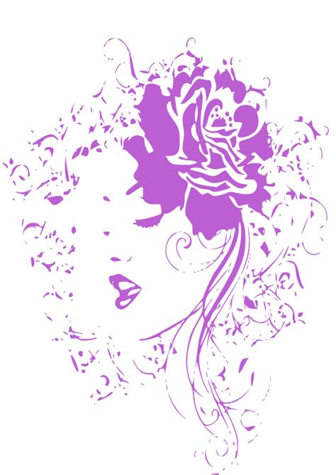 girl flowers cliparts   clip art