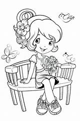 Strawberry Shortcake Coloring Pets sketch template