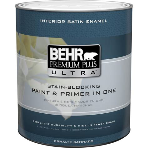 Behr Premium Plus Ultra 1 Qt Ultra Pure White Satin