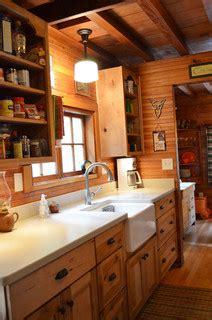 rustic cabin galley kitchen rustic kitchen