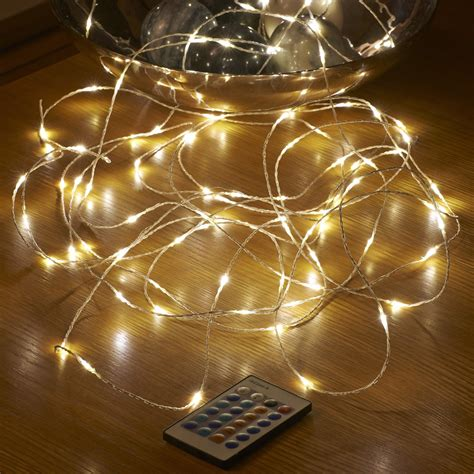 led string lights with remote auraglow 10m remote control plug in 100 micro led string