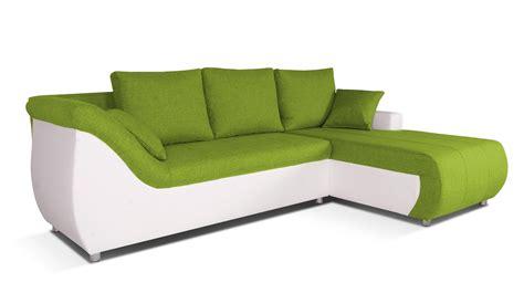 canapé vert corabia canapé d 39 angle convertible droit design vert et
