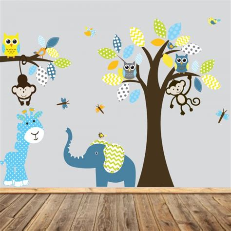stickers chambre bebe savane idees de tricot gratuit