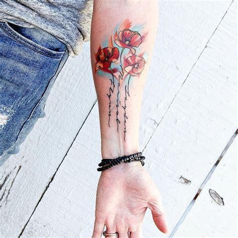 poppy tattoo   kids names   stems