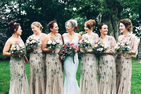 Picture Of Breathtakingly Gorgeous Embellished Bridesmaids