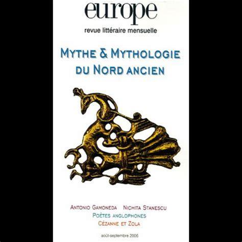 mythe ancien et moderne bibliographie mythologie nordique