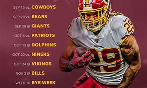 2019 Washington Redskins Schedule: Downloadable Wallpaper