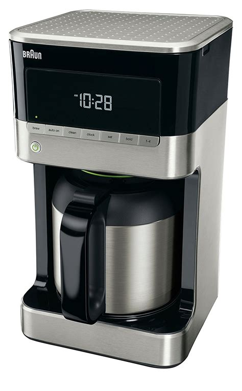 coffee maker with stainless carafe brewsense 10 cup drip coffee maker with thermal carafe 8241