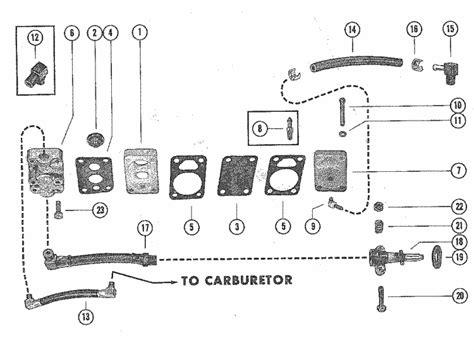 mercury marine  hp fuel pump assembly parts