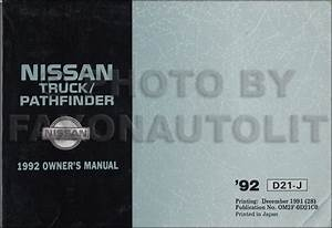 1989 Nissan Truck And Pathfinder Wiring Diagram Manual Original
