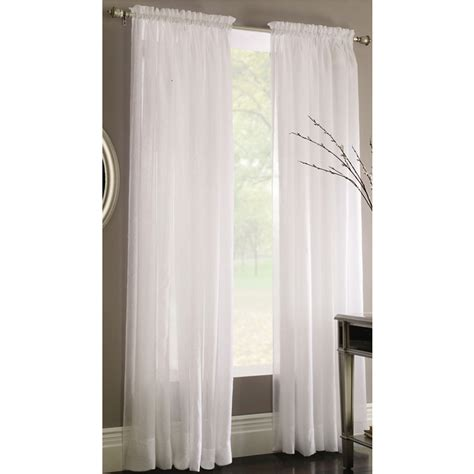 light filtering privacy curtains shop style selections chloe 84 in white polyester rod