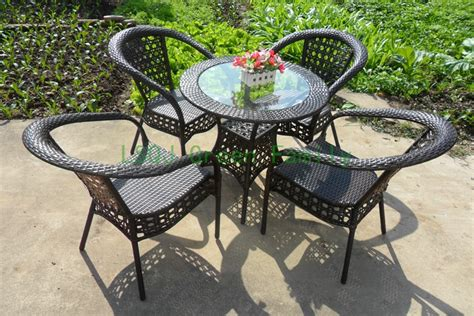 wicker patio table sale patio rattan table chair outdoor garden rattan furniture