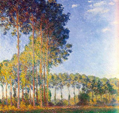 Poplars On The Banks Of The Epte 1891 By Claude Monet Print and Painting from Beverly A Mitchell ...