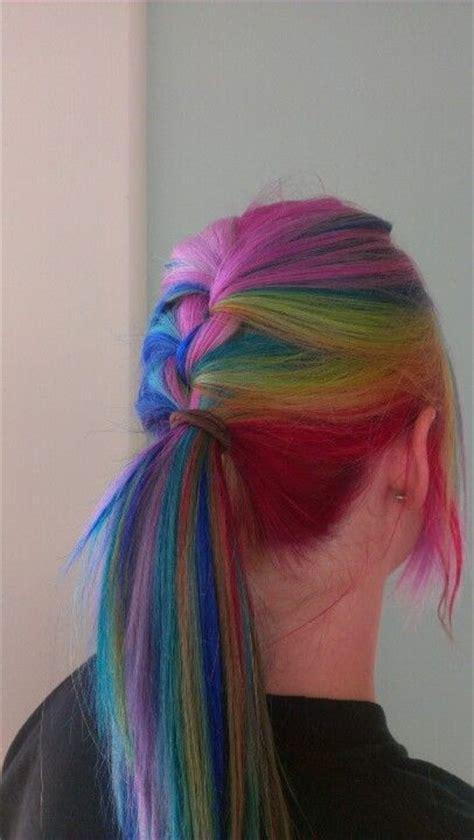 1000 Ideas About Rainbow Hair On Pinterest Colourful