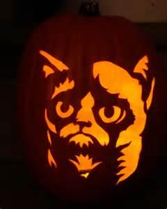 Grumpy Cat Pumpkin Carving Stencil