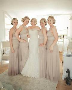 neutral bridesmaid gowns likes pinterest colors With nude wedding dress