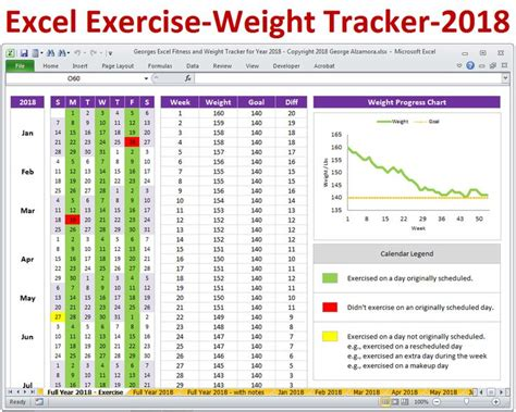 pin  fitness planner  weight tracker excel spreadsheet